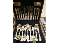Viners silver plated cutlery set