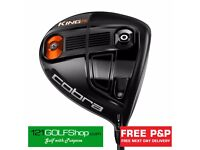 New Cobra F6 KING Driver Black (Adjustable 9-12 Degs) Reg Flex RH £169 Including Next Day Delivery