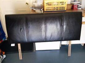 """Faux Leather black 4'6"""" headboard"""