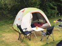 Top quality Kelty Trail Ridge 6 man dome tent with footprint