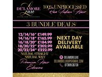 Luxury premium raw virgin hair extensions - bundle deals - Next day delivery