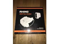 Rhino 2kw Fan Heater / Cooler (white)