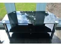 Black glass TV stand/ coffee table