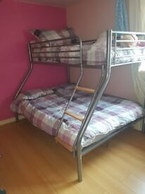 Triple sleeper almost new with single matress (if wanted)
