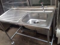 Commercial sink/ catering sink unit (used)