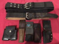 Work tool belt and 5X spanner pouches