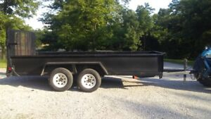 14 FOOT TANDEM AXLE LANDSCAPING TRAILER