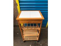 KITCHEN TILE TOP TROLLEY