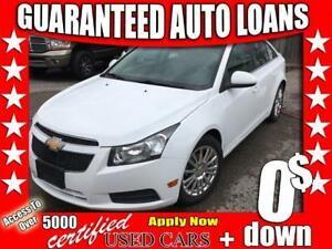 2012 Chevrolet Cruze Eco w/1SA $0 Down - All Credit Accepted!