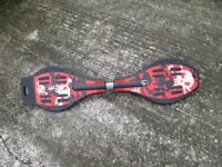 Wiggle/wobble/rip stick skateboard with cover