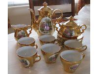 Decorative Antique Porcelain Coffee Set