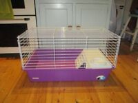 CAGE FOR A HAMPSTER OR OTHER SMALL MAMMAL, AND LARGE WHEEL