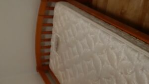 Twin bed frame and mattress