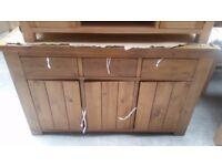 Arizona 3 Door 3 Drawer Sideboard - Solid Pine.