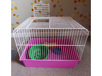 Hamster Cage Rydon Pet UK and Accessories, Used Clean Condition 41.5cm W x 32 cm H x 30.5 cm D