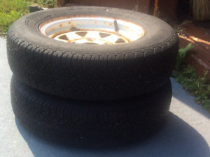 2  -  12 inch tires and rims for trailer