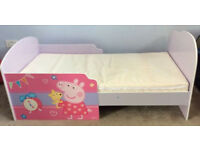 Peppa Pig Toddler Bed (with tent) & Nightnite Mattress
