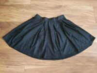 Wet look leather skirt size 8