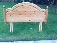 Solid pine double headboard.