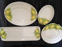 Italian Ceramics, Lemons! Made in Italy, Serving Pieces, Plates, Server, Dish, Pottery