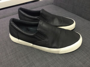 Express Black Perforated Slip On Sneakers Skate Shoes