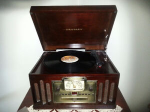 Crosley Record Player, vintage reproduction.  Works well.