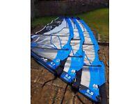 Windsurf Sails - Ezzy Wave Panther 2 (Quiver 4.7m, 5.2m, 5.8m)