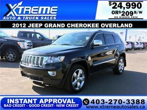 2012 Jeep Grand Cherokee Overland $209 b/w APPLY NOW DRIVE NOW