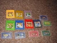 NINTENDO POKEMON GAMES FOR GAMEBOY AND GAMEBOY SP
