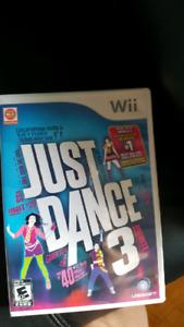 Jeu  wii.  Just dance 3. Parfait condition