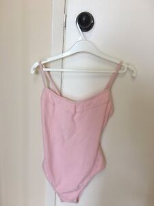 Pink gently used bodysuit