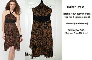 *NEW, NEVER WORN*  Halter Dress from Le Chateau (Size M)