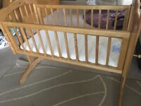 Used rocking cot!