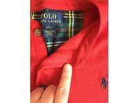 Boys red Ralph Lauren Large 14-16 l/s top & jumper. Worn once