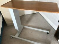 Variable height bedside table. Ideal for elderly person.