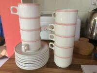 9 Dudson Duraline mugs and saucers