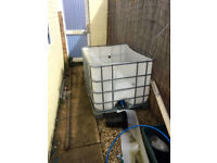 water tank container free to collector
