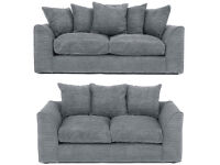 DYLAN JUMBO CORD GREY 3+2 OR LH/RH CORNER SEATER SOFA   1 YEAR WARRANTY   EXPRESS DELIVERY ALL UK