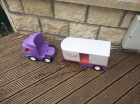 LITTLE TIKES Large Semi Tractor Trailer HAULER TRUCK collect or deliver within Stonehaven