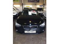 2012/62 Reg BMW 116D Efficient Dynamics Zero Road Tax 3 Month Warranty £7499
