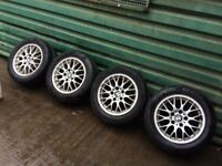 BMW 3 SERIES ALLOY WHEES AND TYRES 5 STUD 16