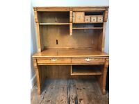 Solid wood computer desk 4ft - 2ft - 5 ft, lovely item of furniture