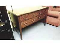 VINTAGE WOODEN DESK WITH DRAWERS LOVELY CONDITION £68.00
