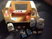 FOR SALE: Sylvanian families ice cream van, 2 ice cream sellers and accessories