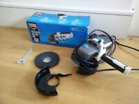 MacAllister 750W Corded Angle Grinder with box and new discs msag750