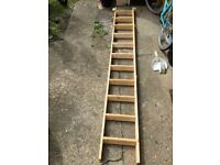 3 section Wooden loft ladder 2806mm