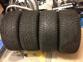 4 Dunlop SP Sport Winter Tyres - Excellent Condition - Only £150!
