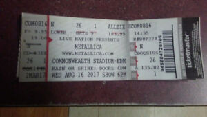 Metallica ticket
