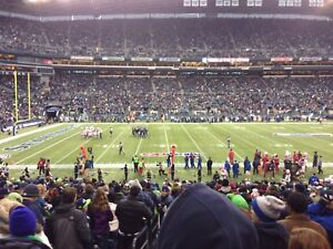 Seahawks vs INDIANAPOLIS COLTS lower bowl aisle seats $400