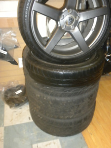 "rufino 18"" wheel & tires,JAGUAR,VOLVO,FORD  5 on 108& 4.25"
